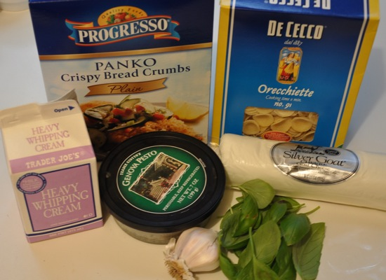 Pesto and Goat Cheese Macaroni and Cheese