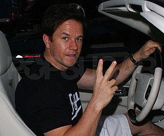 Photos of Mark Wahlberg Picking Up Take Out Food in His Bentley