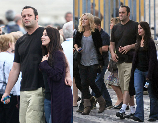 Photos of Vince Vaughn and Kyla Weber in Rome