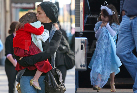 Photos of Katie Holmes And Suri Cruise Shopping For Halloween in Boston