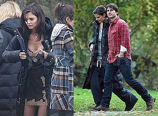 Photos of Katie Holmes and Tom Cruise on the Set of the Romantics