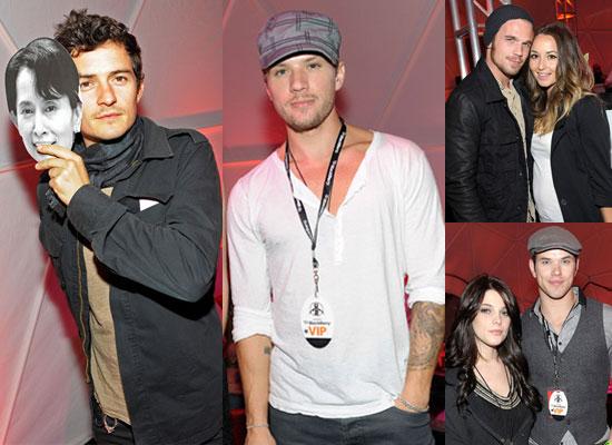 Photos of Twilight's Ashley Greene, Kellan Lutz, Cam Gigandet Plus Orlando Bloom, Ryan Phillippe at U2 360 Concert