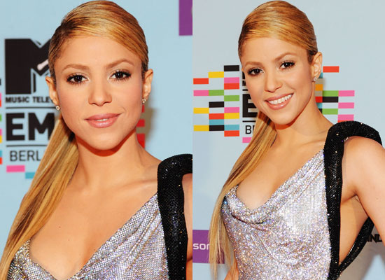 Shakira  Hair, Shakira at the 2009 MTV Europe Music Awards