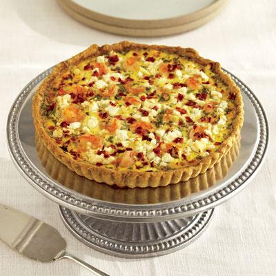 Recipe For Shrimp and Feta Cheese Quiche