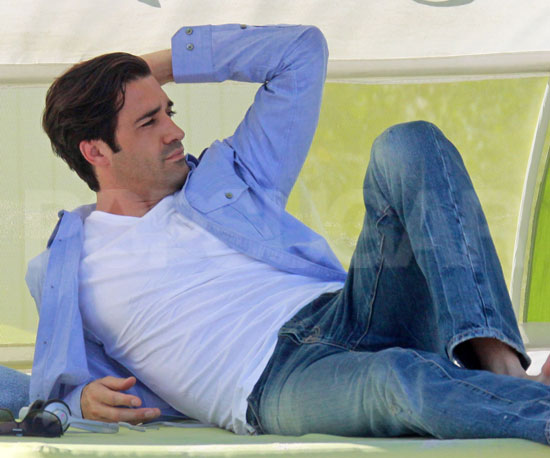 Slide Photo of Gilles Marini Lounging in Miami