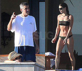 Photos of Clooney in Mexico