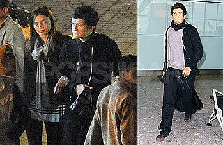 Photos of Orlando Bloom Solo at Heathrow, With Miranda Kerr in Morocco