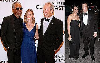 Photos of Matt Damon, Luciana Damon, Morgan Freeman, Hilary Swank, Kevin Bacon, Kyra Sedgwick Honoring Clint Eastwood