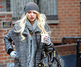 Slide Photo of Taylor Momsen in NYC On Gossip Girl