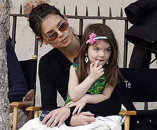 Slide Photo of Katie Holmes and Suri Cruise in Spain