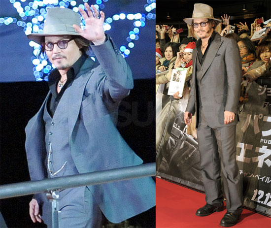 Photos of Johnny Depp Premiering Public Enemies in Tokyo