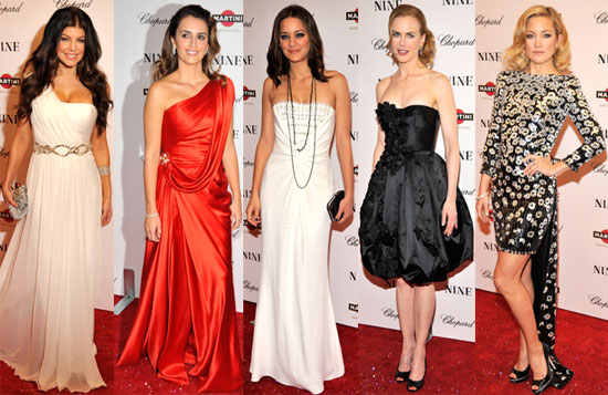 Photos of Penelope Cruz, Kate Hudson, Nicole Kidman, Madonna and More at NYC Premiere of Nine 2009-12-16 06:00:00