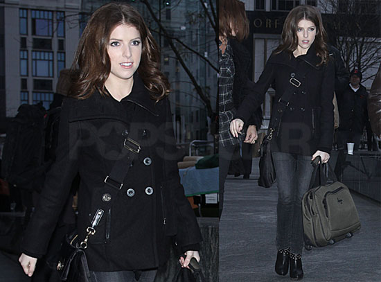 Photos of Anna Kendrick Leaving Morning Shows in NYC