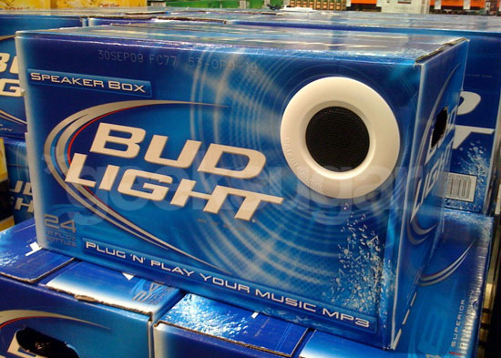 Costco Selling Bud Light MP3 Speaker Box