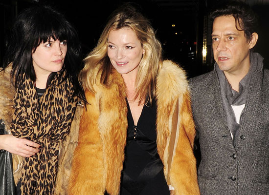 """Photos Kate Moss Out For Dinner With The Kills' Alison Mosshart & Jamie Hince, Kate Reveals """"Thin"""" Motto She Tries To Live By"""