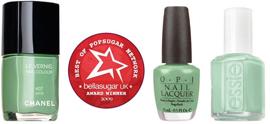 Green Nail Polish, Chanel Jade, Best Green Nail Polishof the Year, OPI, Essie