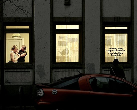 German Domestic Violence Ads on Apartment Buildings