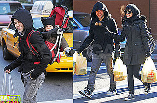 Photos of Pete Wentz, Ashlee Simpson, and Bronx Wentz Shopping in NYC