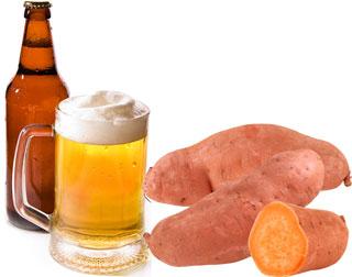 Sweet Potato and Beer Beauty Treatment