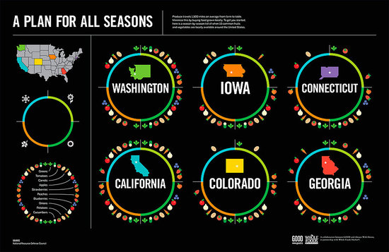 Infographic From GOOD That Breaks Food Down by Region and Season