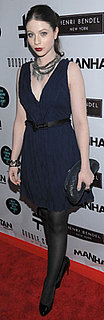 Michelle Trachtenberg Wears Navy Dress to You Know You Want It Event