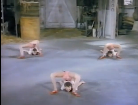 Video of Early Yoga Pioneers The Ross Sisters