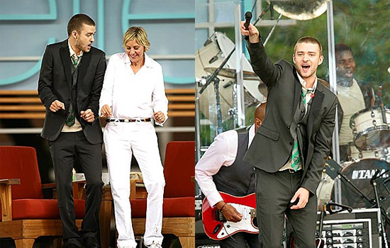 Justin Helps Ellen and the Kids