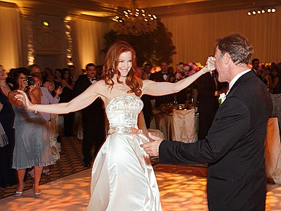 Marcia Cross wedding pictures