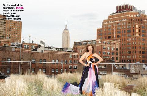 Diane von Furstenberg Tries Other Designers On For Size in Purple