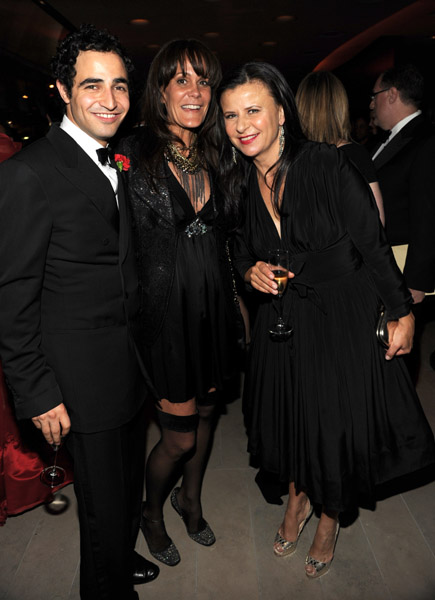 Zac Posen, Julie Gilhart, and Tracey Ullman