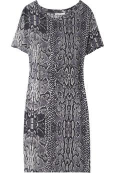 Parly snake-print T-shirt dress$175