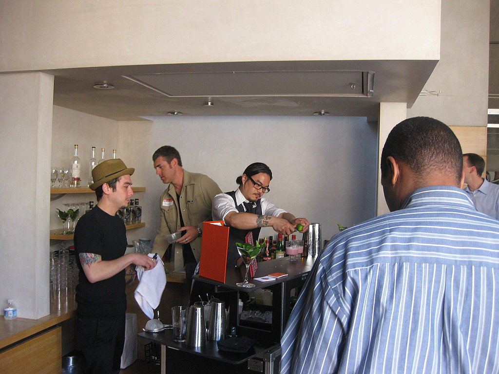 Bartenders from Dosa making cocktails.