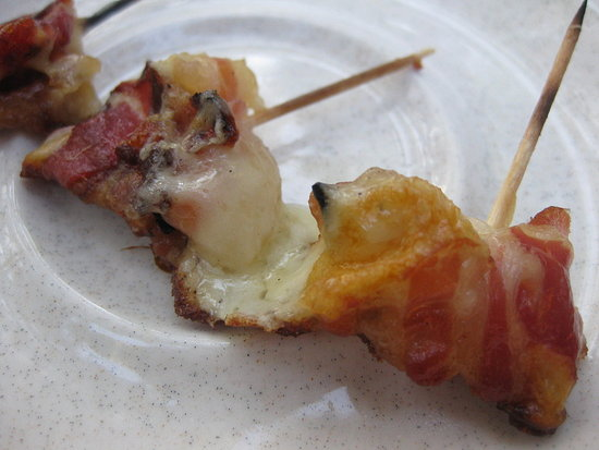 Say Cheese! Pancetta Smoked Mozzarella Skewers