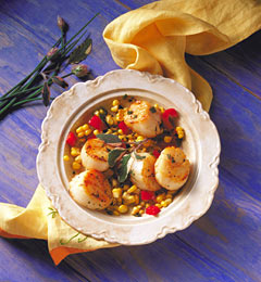 Scallop Corn Salad Recipe