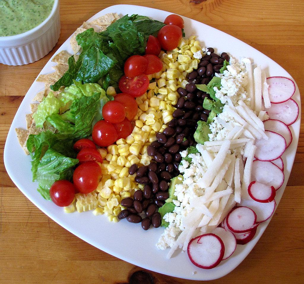 Fast & Easy Recipe For Vegetarian Or Vegan Layered Taco
