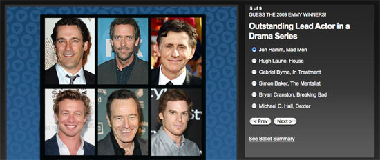 Guess the 2009 Emmy Winners and Win $1,000!