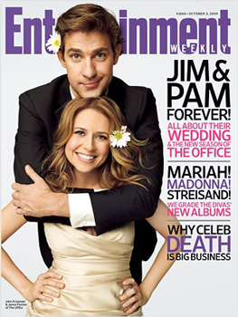 Jim and Pam's Wedding Magazine Cover For Entertainment Weekly