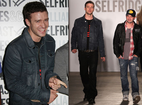 Photos of Justin Timberlake at the William Rast Mens Fashion Show in Paris