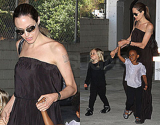 Photos of Angelina Jolie Taking Zahara and Shiloh to Dance Class