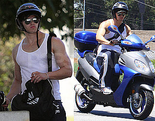 Photos of Kellan Lutz on Motorcycle