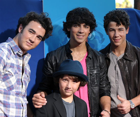 Slide Photo of Nick Jonas, Joe Jonas, Kevin Jonas, Frankie Jonas at Ponyo Screening in LA