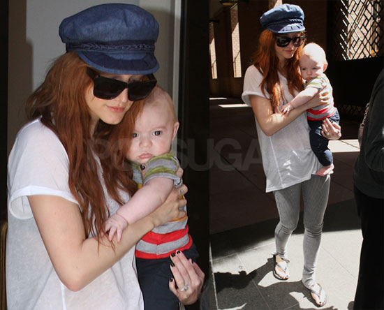 Photos of Ashlee Simpson With Son Bronx Wentz in NYC Together