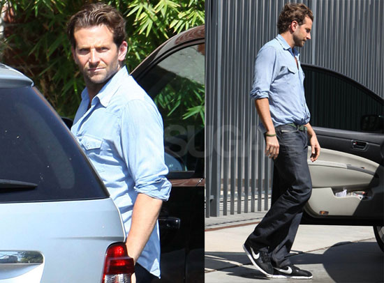 Photos of Bradley Cooper Visiting Bay Films in LA While Rumored Girlfriend Renee Zellweger Promotes My One And Only in NYC