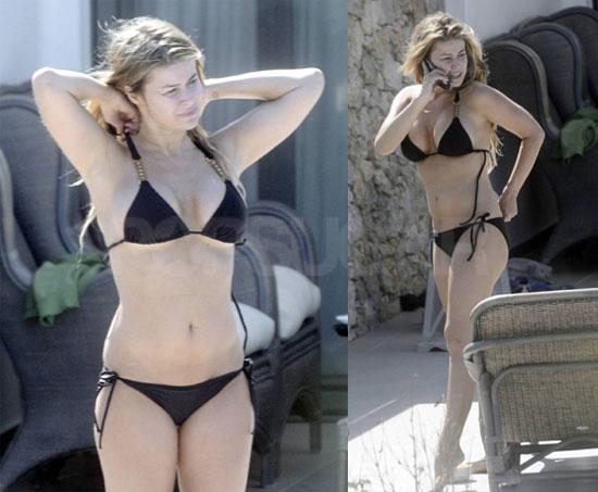 Carmen Electra Bikini Photos In Greece With Fiance Robert Patterson