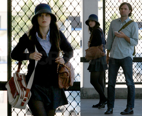 Photos of Your Highness' Zooey Deschanel And Ben Gibbard Flying Out of LAX