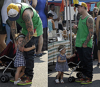 Photos of Joel and Harlow