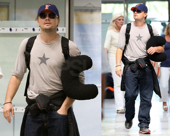 Photos of Leonardo DiCaprio at Nice Airport