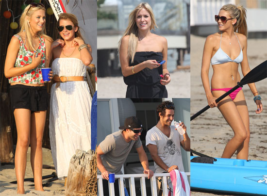Photos of Kristin Cavallari, Brody Jenner, Lo Bosworth, and Stephanie Pratt Filming the Hills in Malibu