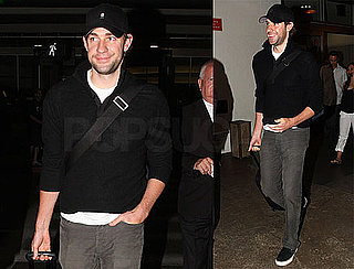 Photos of Newly Engaged John Krasinski Arriving at LAX