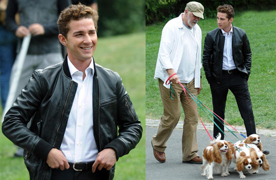 Photos of Shia LaBeouf Filming Money Never Sleeps in NYC